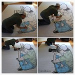 Tomitheos 3D optical illusion life size sketch
