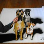 3D pet portrait paintings optical illusion